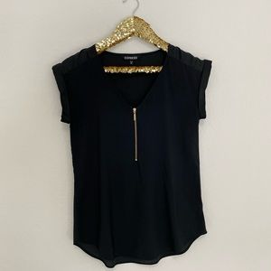 Express Gramercy Blouse in Black